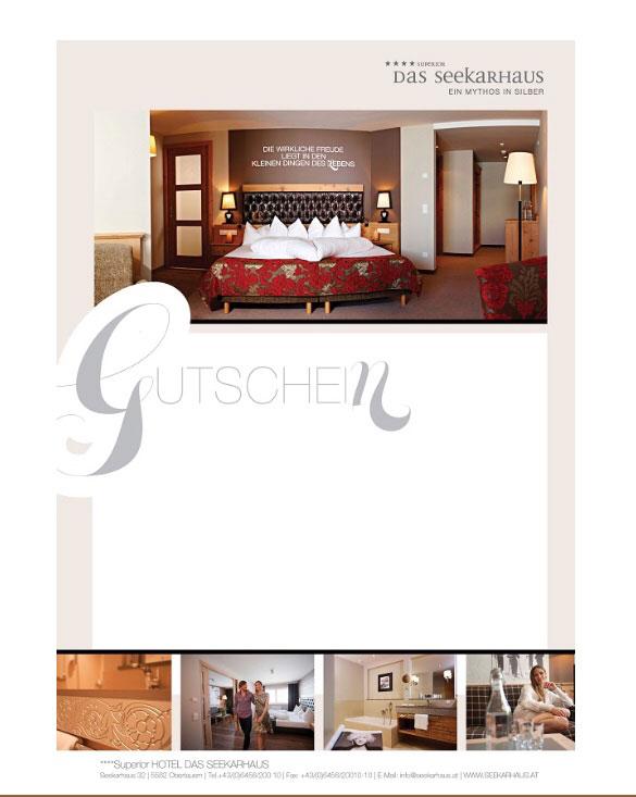 Die Hotel Das Seekarhaus-Obertauern-Gutscheine sind bereits ab einem Betrag von 10.– Euro erhältlich.