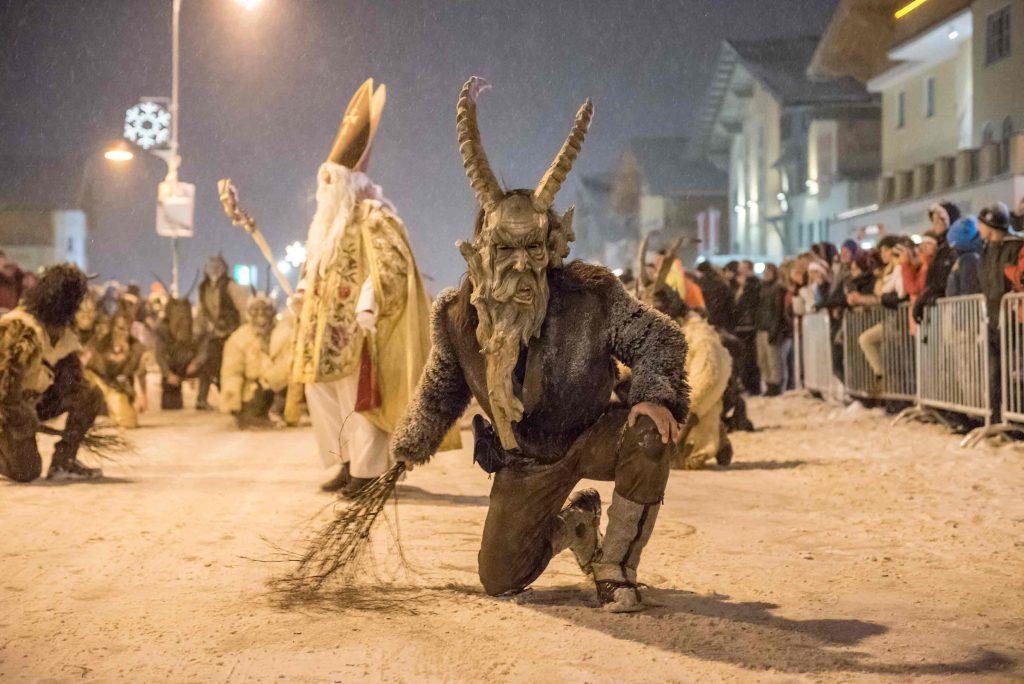 Großer Krampusumzug. am 8. Dezember 2018 live in Obertauern. Foto: Tourismusverband Obertauern